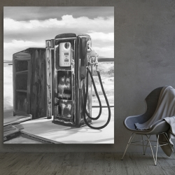 Canvas 48 x 60 - Old gas pump