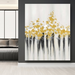 Canvas 48 x 60 - Abstract gold flowers