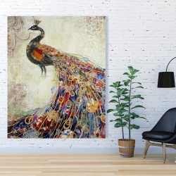 Canvas 48 x 60 - Majestic peacock