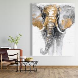 Canvas 48 x 60 - Golden elephant