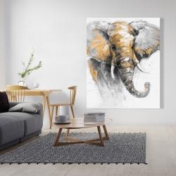 Canvas 48 x 60 - Beautiful golden elephant