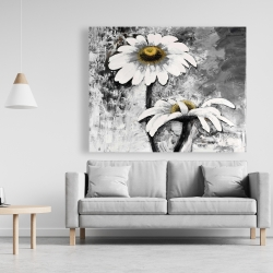 Canvas 48 x 60 - Abstract daisies flowers