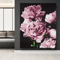 Canvas 48 x 60 - Pink peonies