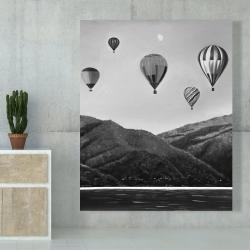 Canvas 48 x 60 - Air balloon landscape