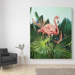 Canvas 48 x 60 - Tropical flamingo