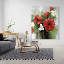 Canvas 48 x 60 - Abstract wild flowers bundle