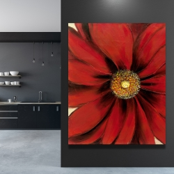 Canvas 48 x 60 - Red daisy