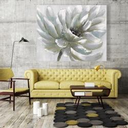 Canvas 48 x 60 - White chrysanthemum