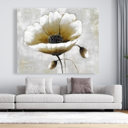 Canvas 48 x 60 - Modern beige flower