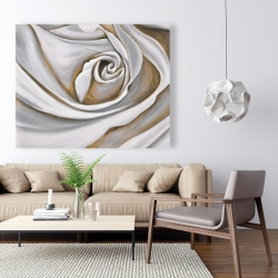 Canvas 48 x 60 - White rose closeup