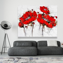 Canvas 48 x 60 - Abstract poppy flowers