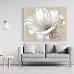 Canvas 48 x 60 - White abstract wild flower