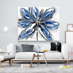 Canvas 48 x 60 - Blue petal