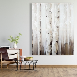 Canvas 48 x 60 - Abstract white birches