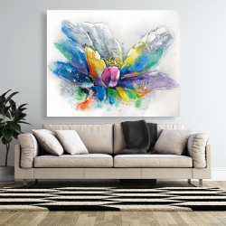 Canvas 48 x 60 - Abstract flower with newspaper