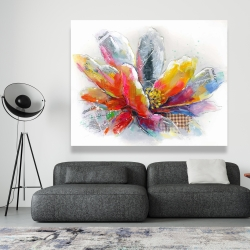 Canvas 48 x 60 - Abstract flower with texture