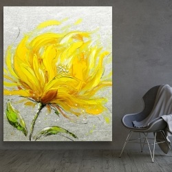 Canvas 48 x 60 - Yellow fluffy flower
