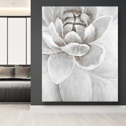 Canvas 48 x 60 - Delicate white chrysanthemum