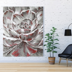 Canvas 48 x 60 - Gray and pink flower