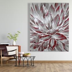 Canvas 48 x 60 - Red and gray flower