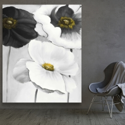 Canvas 48 x 60 - Assorted white flowers