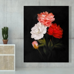 Canvas 48 x 60 - Small bundle of roses