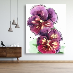 Canvas 48 x 60 - Two blossoming orchid with wavy petals