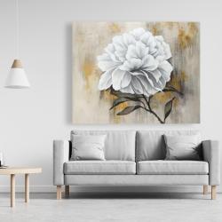 Canvas 48 x 60 - White peony