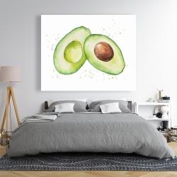 Canvas 48 x 60 - Watercolor open avocado
