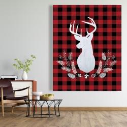 Canvas 48 x 60 - Deer plaid