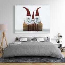 Canvas 48 x 60 - Three christmas gnomes