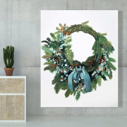 Canvas 48 x 60 - Christmas wreath