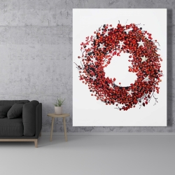 Canvas 48 x 60 - Red berry wreath