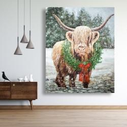 Canvas 48 x 60 - Highland christmas cow