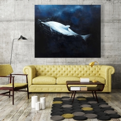 Canvas 48 x 60 - Swimming dolphin