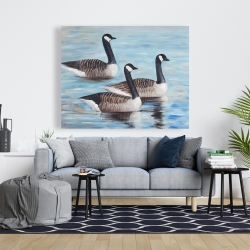 Canvas 48 x 60 - Canada geese in water