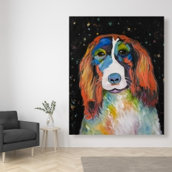 Canvas 48 x 60 - Colorful dog