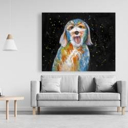 Canvas 48 x 60 - Abstract labradoodle