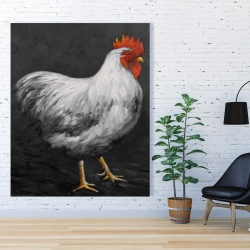 Canvas 48 x 60 - Grey rooster 2