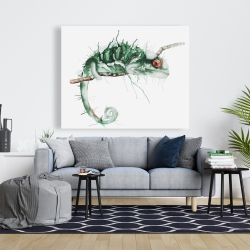 Canvas 48 x 60 - Chameleon on the lookout