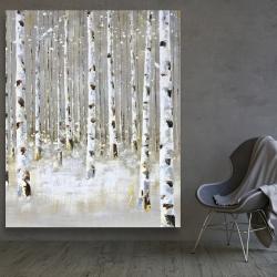 Canvas 48 x 60 - Birch forest by winter