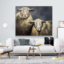 Canvas 48 x 60 - Two sheeps