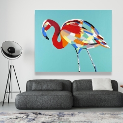 Canvas 48 x 60 - Abstract flamingo