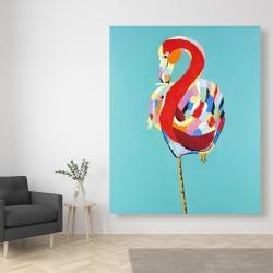 Canvas 48 x 60 - Colorful flamingo