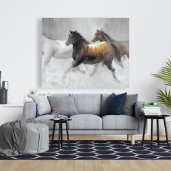 Canvas 48 x 60 - Herd of wild horses