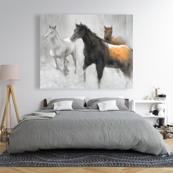 Canvas 48 x 60 - Abstract herd of horses