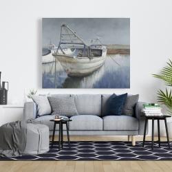 Canvas 48 x 60 - Blue fishing boat