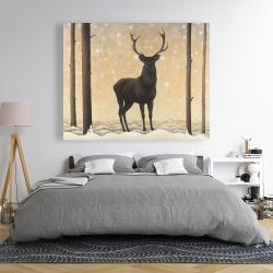 Canvas 48 x 60 - Roe deer in winter