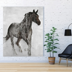 Canvas 48 x 60 - Abstract brown horse