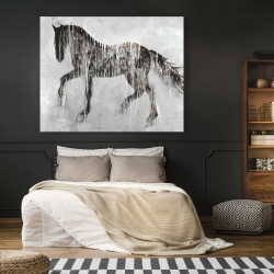 Canvas 48 x 60 - Horse brown silhouette